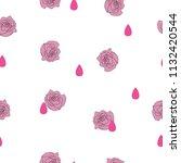 seamless pattern small pink... | Shutterstock .eps vector #1132420544
