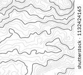 topographic map contour... | Shutterstock .eps vector #1132424165
