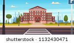 school building  with  the... | Shutterstock .eps vector #1132430471