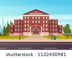 school building  with  the... | Shutterstock .eps vector #1132430981