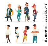 characters collection of... | Shutterstock .eps vector #1132431041