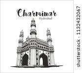 charminar hyderabad... | Shutterstock .eps vector #1132432067