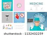 flat medicine infographic...   Shutterstock .eps vector #1132432259
