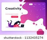 vector ultra violet gradient...   Shutterstock .eps vector #1132435274
