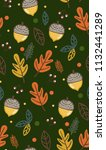 cute vintage pattern with... | Shutterstock .eps vector #1132441289