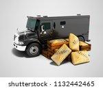 modern black armored truck for... | Shutterstock . vector #1132442465