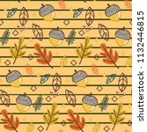 vintage striped pattern with... | Shutterstock .eps vector #1132446815