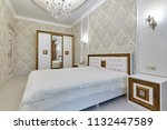 bedroom with a beautiful... | Shutterstock . vector #1132447589