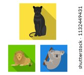 different animals flat icons in ...   Shutterstock .eps vector #1132449431