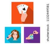manipulation by hands flat... | Shutterstock .eps vector #1132449581