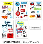 sticker book  cute sticker for... | Shutterstock .eps vector #1132449671