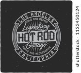 vintage label design with... | Shutterstock . vector #1132450124