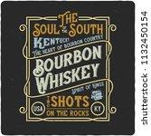 vintage label design with... | Shutterstock . vector #1132450154