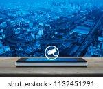 cctv camera icon on modern... | Shutterstock . vector #1132451291
