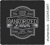 vintage label design with... | Shutterstock . vector #1132451897