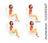 sport exercises for office....   Shutterstock .eps vector #1132453307