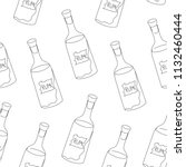 seamless drawing of a bottle of ... | Shutterstock .eps vector #1132460444