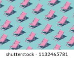 pink chaise longue pattern on... | Shutterstock . vector #1132465781