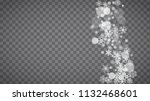 blizzard snowflakes on... | Shutterstock .eps vector #1132468601