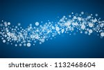 christmas frame with falling... | Shutterstock .eps vector #1132468604