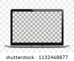 notebook mockup on the checked...   Shutterstock .eps vector #1132468877