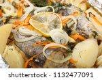 a marinated hake with potatoes...