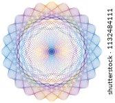 vector guilloche elements for... | Shutterstock .eps vector #1132484111