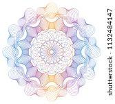vector guilloche elements for... | Shutterstock .eps vector #1132484147