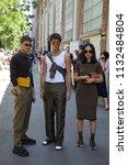 milan   june 18  men and woman... | Shutterstock . vector #1132484804