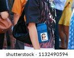 milan   june 17  woman with... | Shutterstock . vector #1132490594