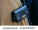 milan   june 17  woman with...   Shutterstock . vector #1132490597