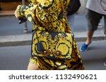 milan   june 16  woman with... | Shutterstock . vector #1132490621