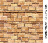 stone brick wall seamless... | Shutterstock .eps vector #113249485