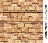 stone brick wall seamless... | Shutterstock .eps vector #113249485