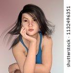 sexy female underwear model... | Shutterstock . vector #1132496351