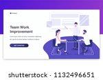 businessmen and businesswomen... | Shutterstock .eps vector #1132496651