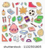vector doodle icons collection. ... | Shutterstock .eps vector #1132501805
