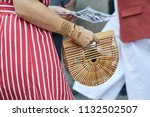 milan   june 16  woman with...   Shutterstock . vector #1132502507