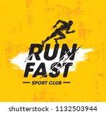 run fast sport club creative... | Shutterstock .eps vector #1132503944