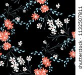 little floral seamless pattern...   Shutterstock .eps vector #1132507811