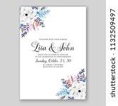wedding invitation card flower... | Shutterstock .eps vector #1132509497