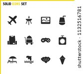 sunny icons set with picture ...
