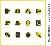 service icons set with notebook ...