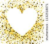 gold frame with glitter... | Shutterstock .eps vector #1132518071