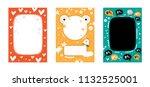 frame  border set for baby's... | Shutterstock .eps vector #1132525001