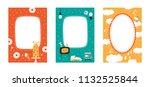 frame set for baby's photo... | Shutterstock .eps vector #1132525844