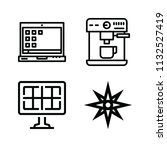 technology related set of 4... | Shutterstock . vector #1132527419