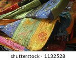 colourful embroidered bags on... | Shutterstock . vector #1132528