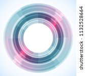 geometric frame from circles ... | Shutterstock .eps vector #1132528664