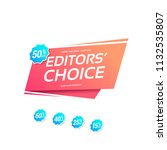 editors' choice commercial... | Shutterstock .eps vector #1132535807